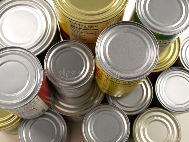 装被堆积的食物于罐中 图库摄影