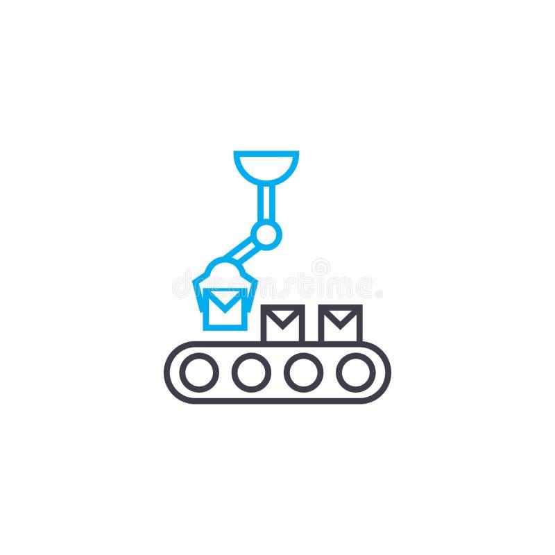 装载在传动机线性象概念 装载在传动机线传染媒介标志,标志,例证 皇族释放例证