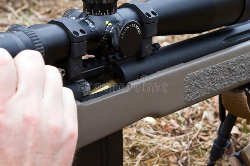 装载步枪 库存照片
