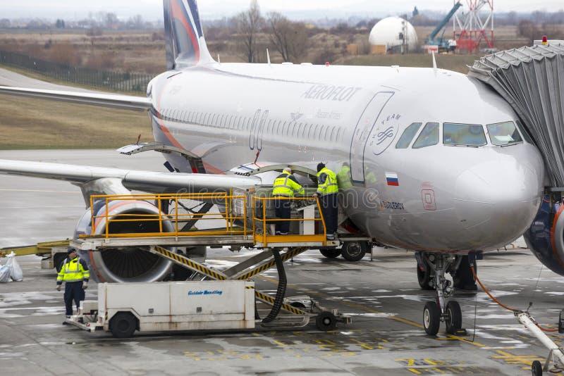 装载的俄国飞机 库存图片