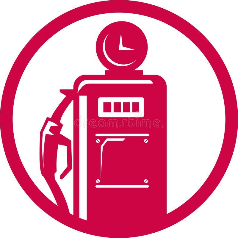 装载的加油泵岗位 皇族释放例证