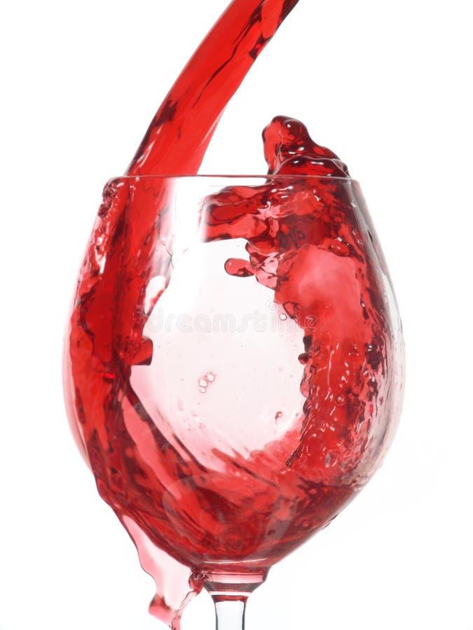 装载的玻璃酒 免版税库存图片