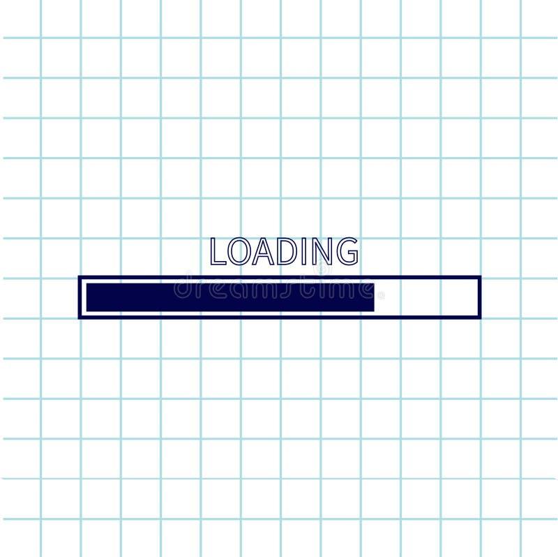 装载的进展状态栏象 网络设计app下载定时器 笔记本纸纹理细胞摆正了习字簿白色空白纸  皇族释放例证