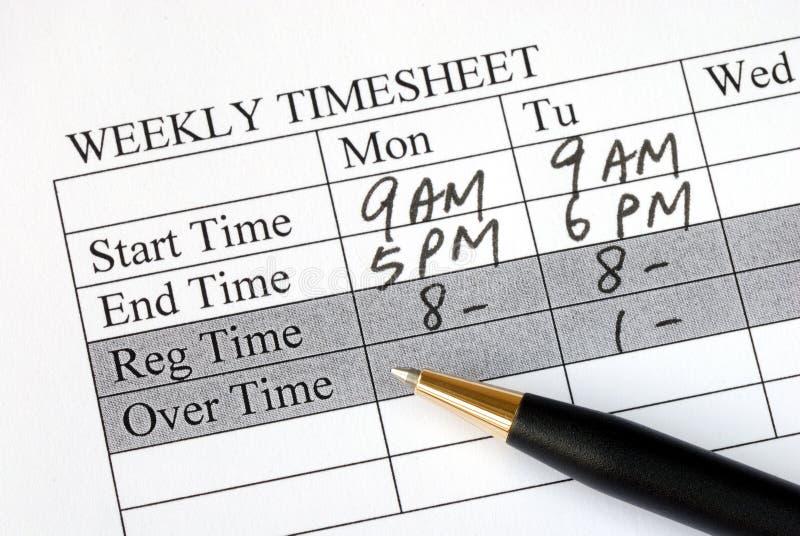 装载的页时间每星期 库存照片