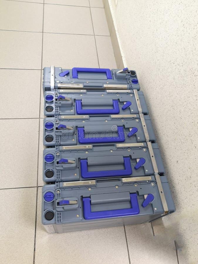 装载的ATM现金卡式磁带 库存图片