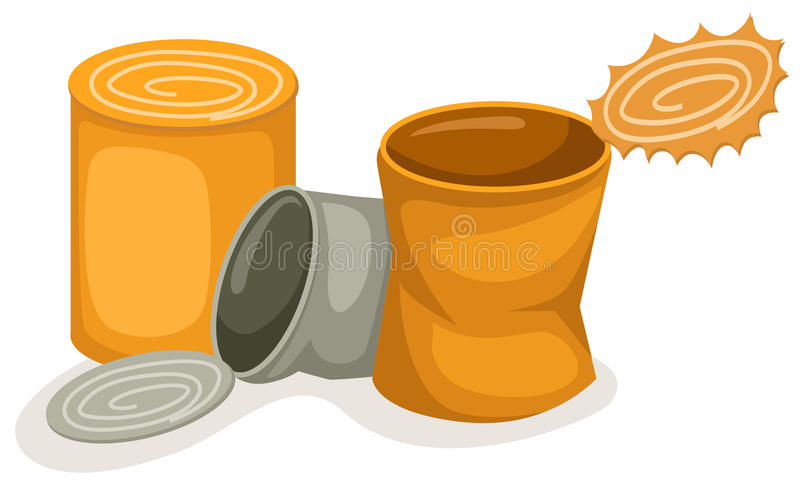 装食物于罐中 向量例证