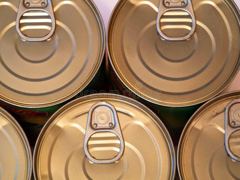 装食物于罐中 免版税库存图片