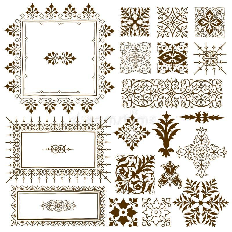 装饰书法华丽设计元素 库存例证