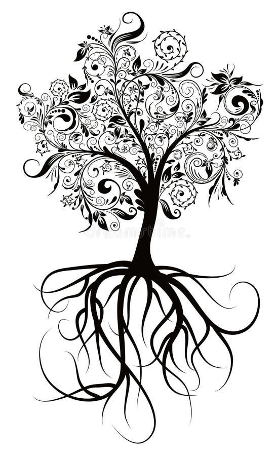 装饰例证结构树向量 皇族释放例证
