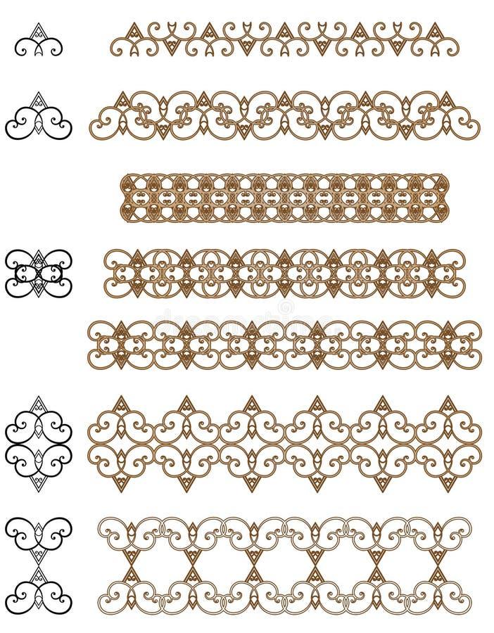 装饰元素集 向量例证
