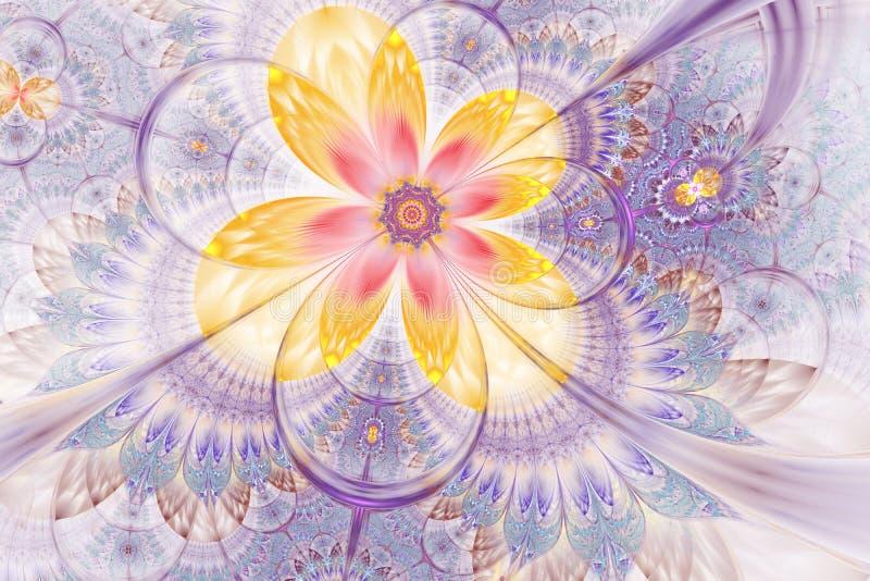 装饰光滑的花数字艺术品图表 皇族释放例证