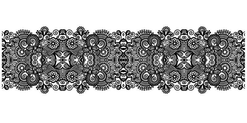 装饰华丽设计条纹样式,种族花卉无缝 皇族释放例证
