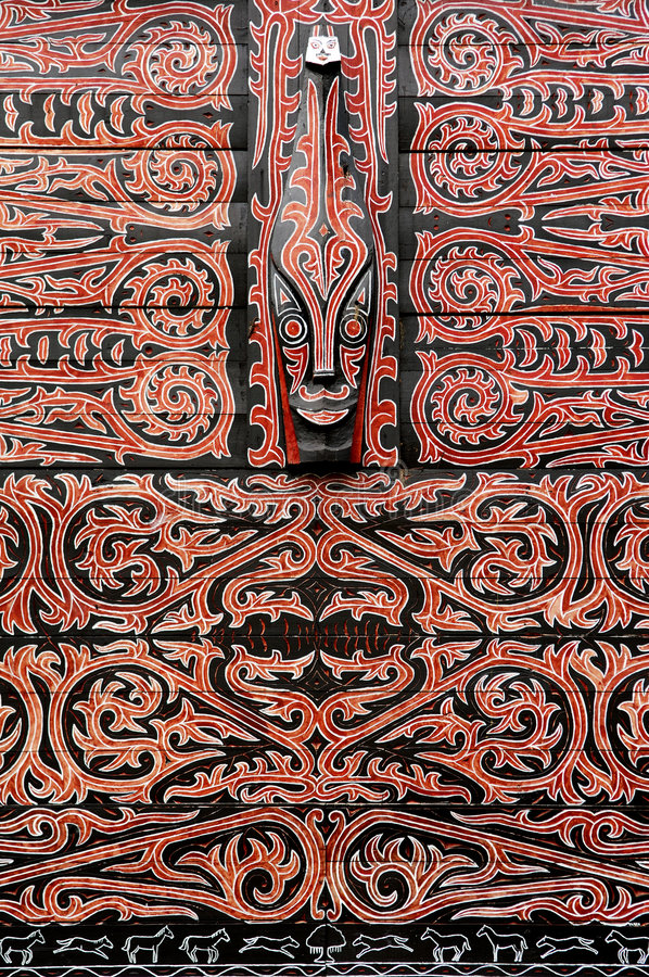 装饰印度尼西亚苏门答腊 库存照片