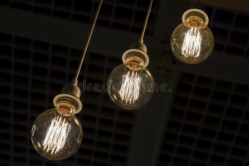 装饰古色古香的样式电灯泡 免版税图库摄影