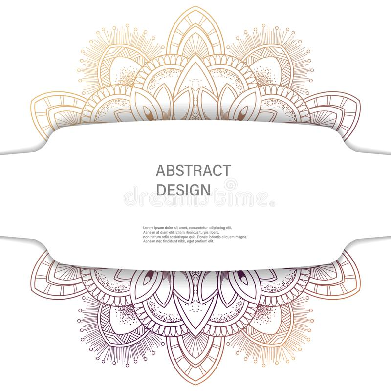 装饰品与坛场的颜色卡片 装饰要素葡萄酒 背景被画的现有量 抽象设计 向量例证