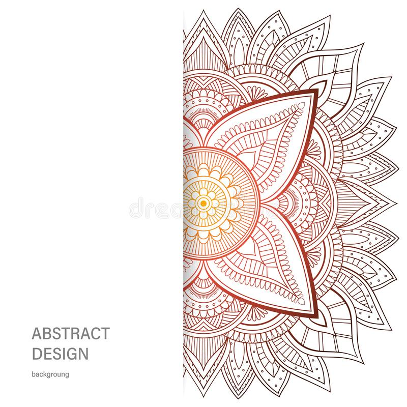 装饰品与坛场的颜色卡片 装饰要素葡萄酒 背景被画的现有量 抽象设计 库存例证