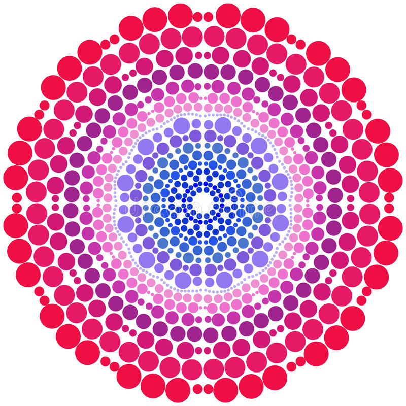 绘围绕装饰品坛场的小点 五颜六色的传染媒介艺术 图库摄影