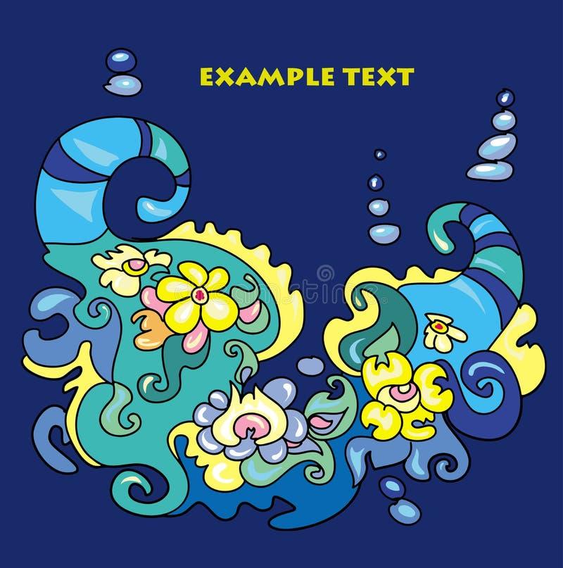 装饰品异常的蓝色海题材黄色 库存照片