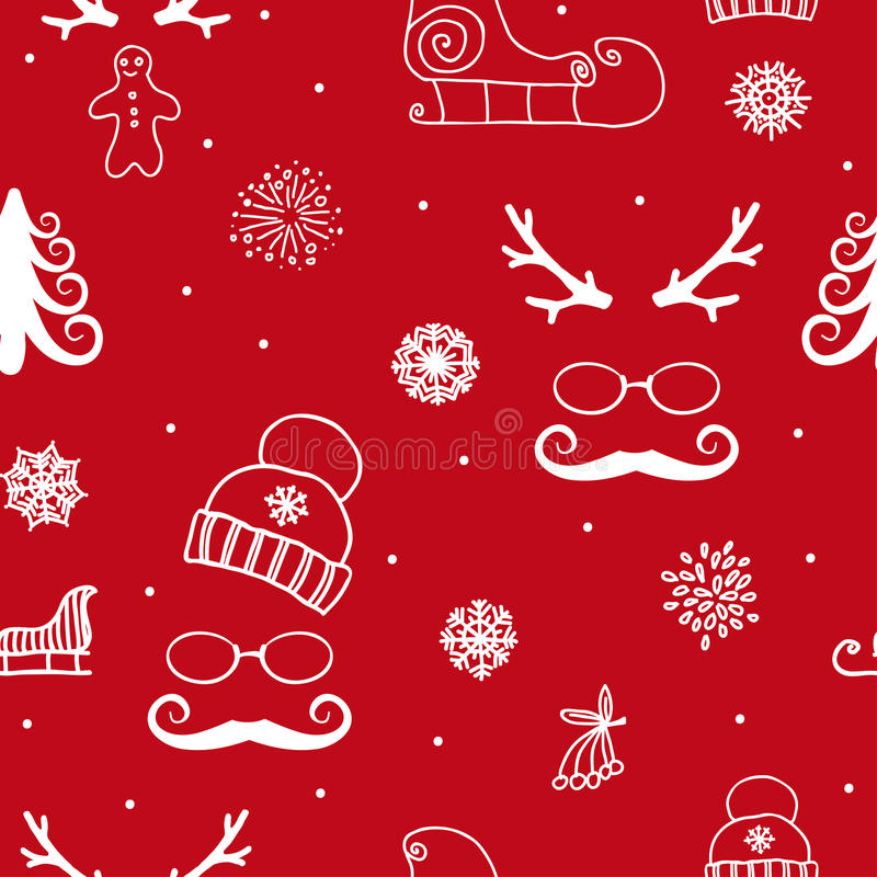 Download 装饰品无缝的冬天 库存例证. 插画 包括有 冻结, 节假日, 圣诞节, 12月, 剥落, 装饰, 动画片 - 62532677