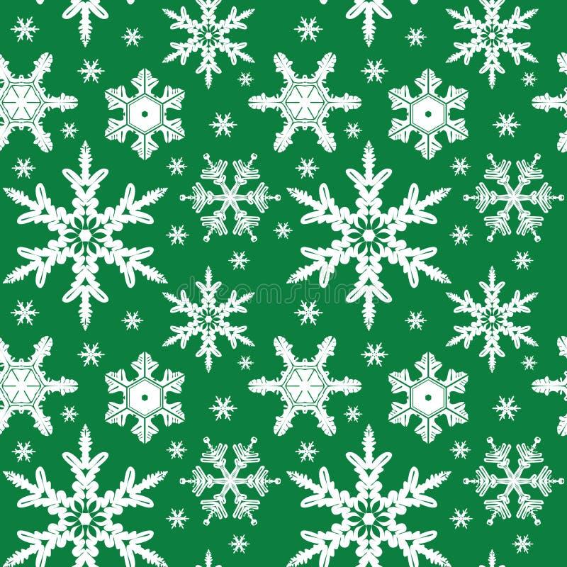 装饰品无缝的雪花向量 库存例证