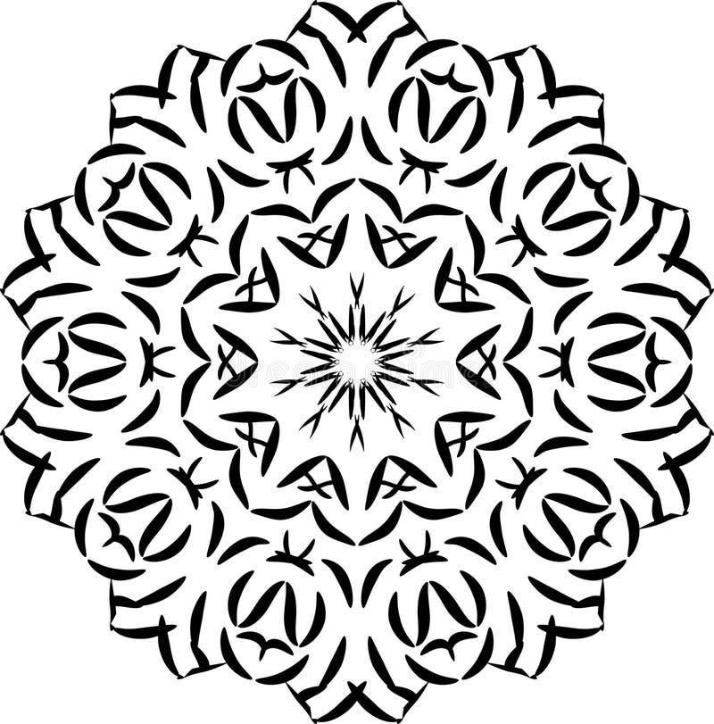装饰品来回向量 设计的要素 风格化雪花 网的,印刷品,卡片,海报有花边的主题 皇族释放例证