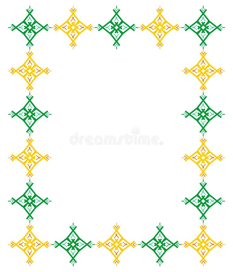 装饰品框架 皇族释放例证