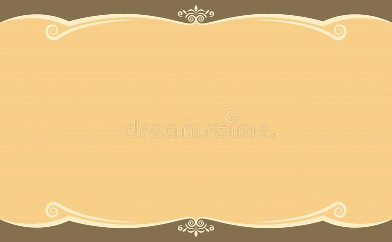 装饰品模板布朗颜色 皇族释放例证