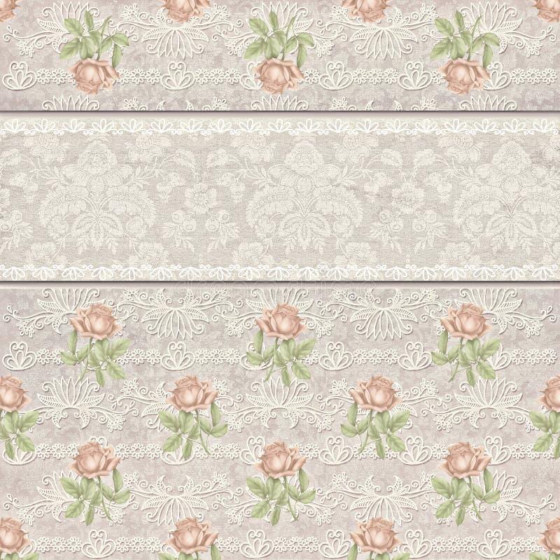装饰品玫瑰色横幅背景 向量例证
