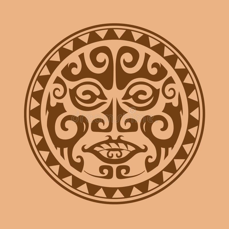 装饰品的圆构成仿照毛利人样式的 皇族释放例证