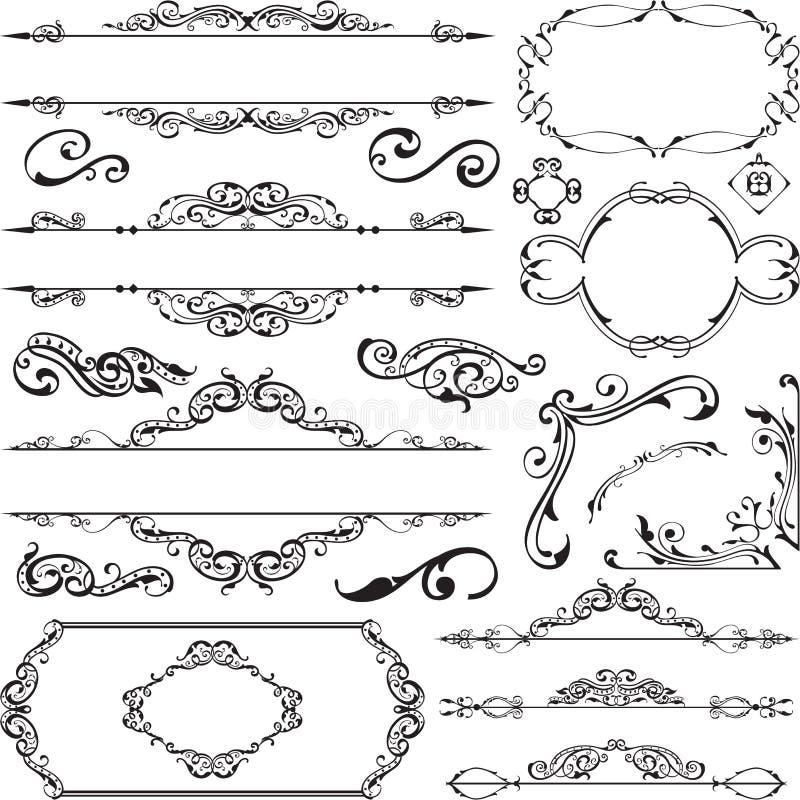 装饰品ornane设计元素集 库存例证