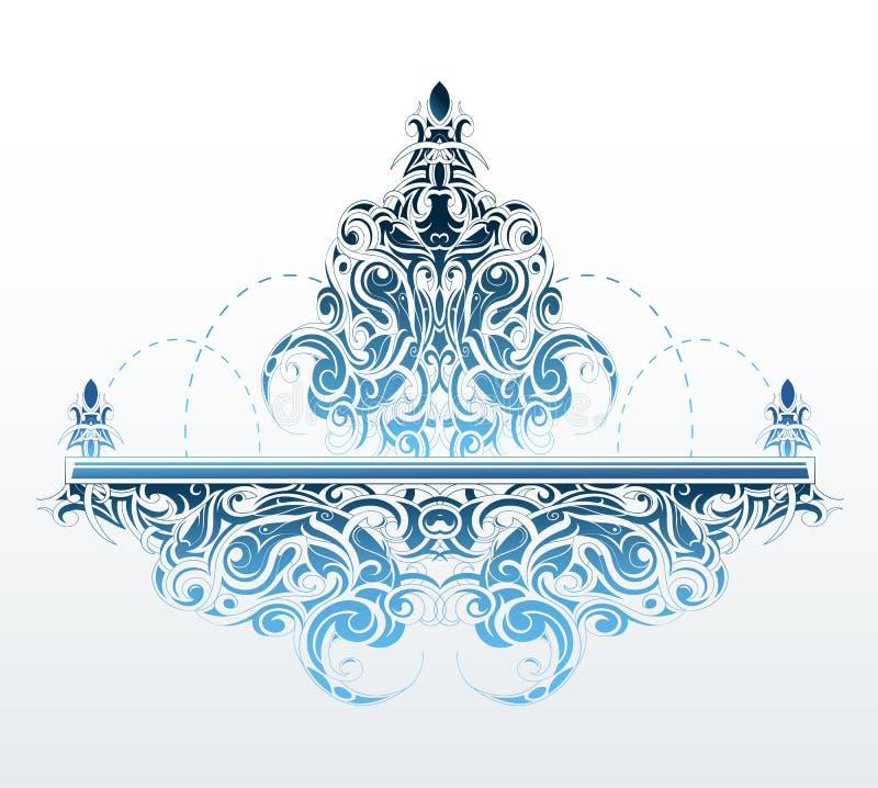 装饰喷泉形状 向量例证