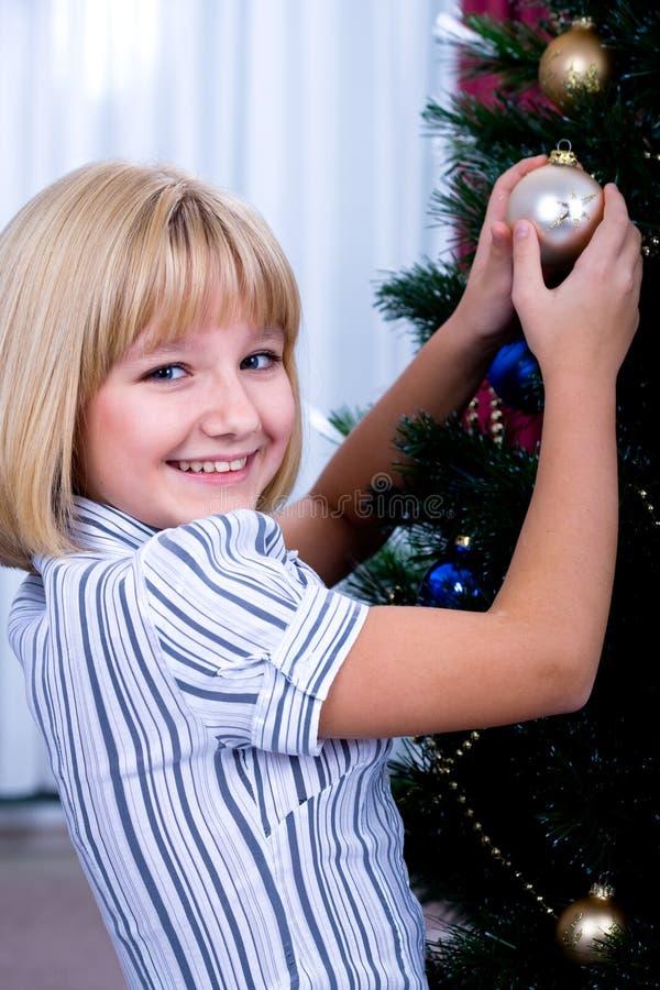 装饰圣诞树 库存图片