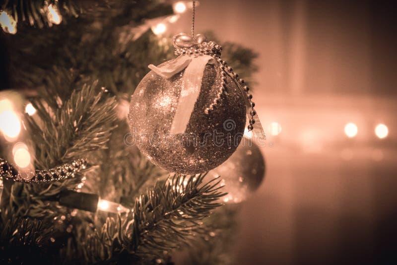 装饰垂悬从圣诞树 库存图片