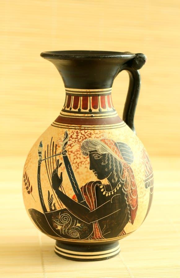 装饰埃及花瓶 免版税库存照片