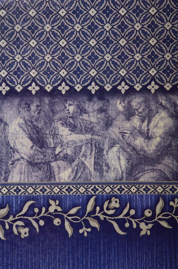装饰墙纸 免版税库存照片