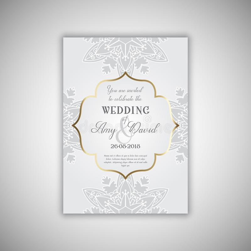 装饰婚礼邀请设计 库存例证