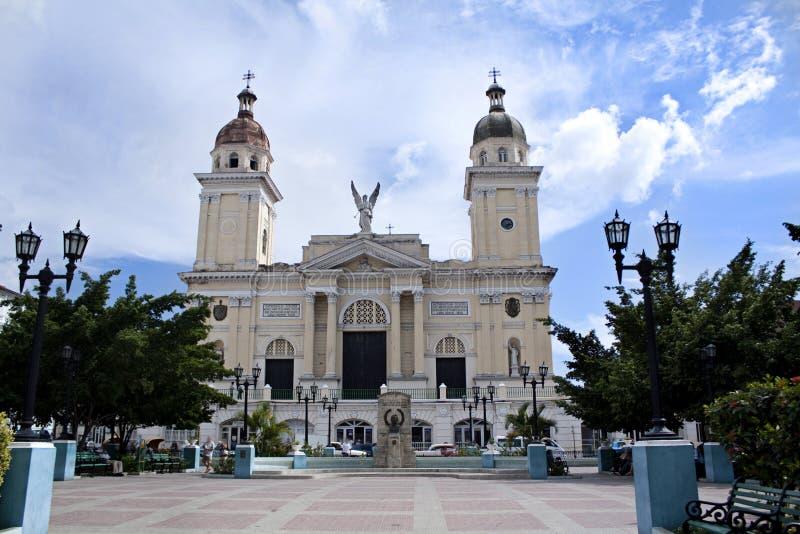 装饰宗教大教堂外视图  免版税库存图片