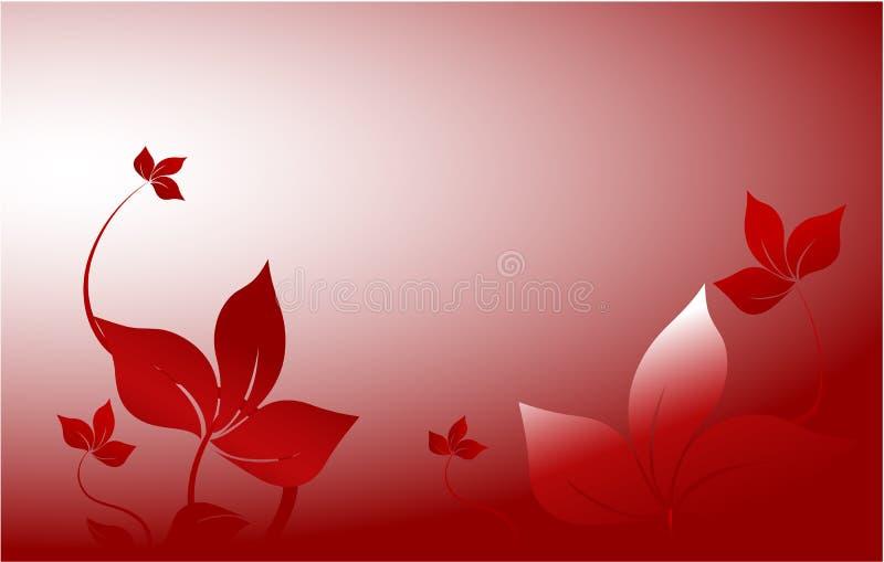 装饰庭院红色 向量例证