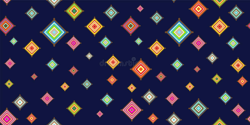 装饰形象艺术装饰无缝的墙纸传染媒介 向量例证