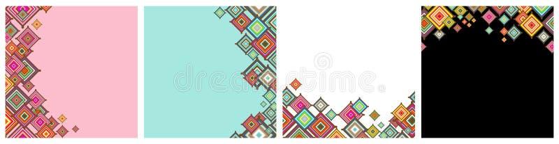 装饰形象艺术装饰无缝的墙纸 库存例证