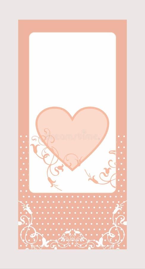 装饰心脏卡片样式 皇族释放例证