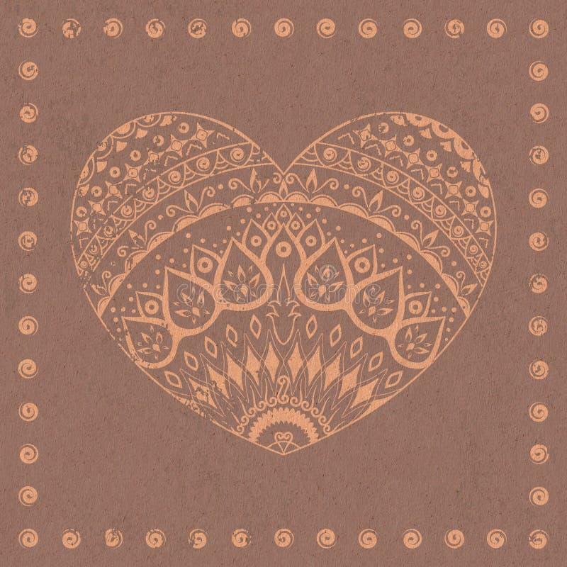 Download 装饰心脏 库存例证. 插画 包括有 餐巾, 装饰, 设计, 几何, 艺术性, 五颜六色, 框架, 背包, 仿效 - 30337182