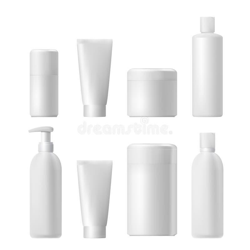 装饰性的产品 塑料3d瓶 瓶模板 大模型 库存例证