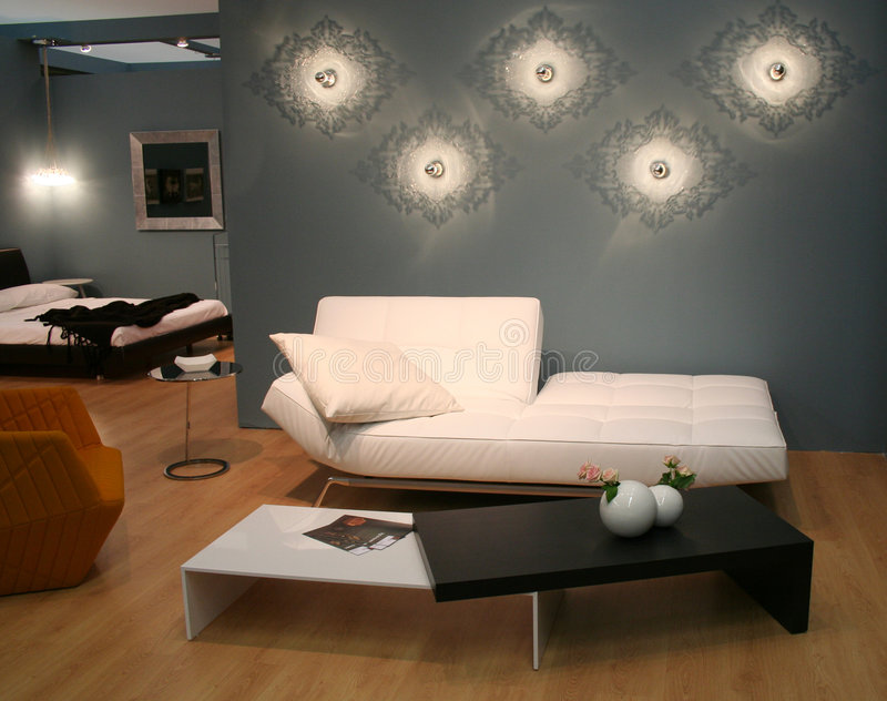 装饰想法客厅 库存照片