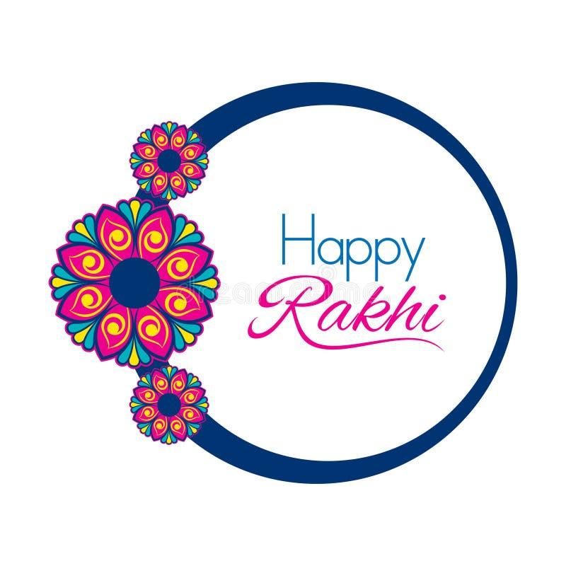 装饰愉快的rakhi节日贺卡设计 库存例证
