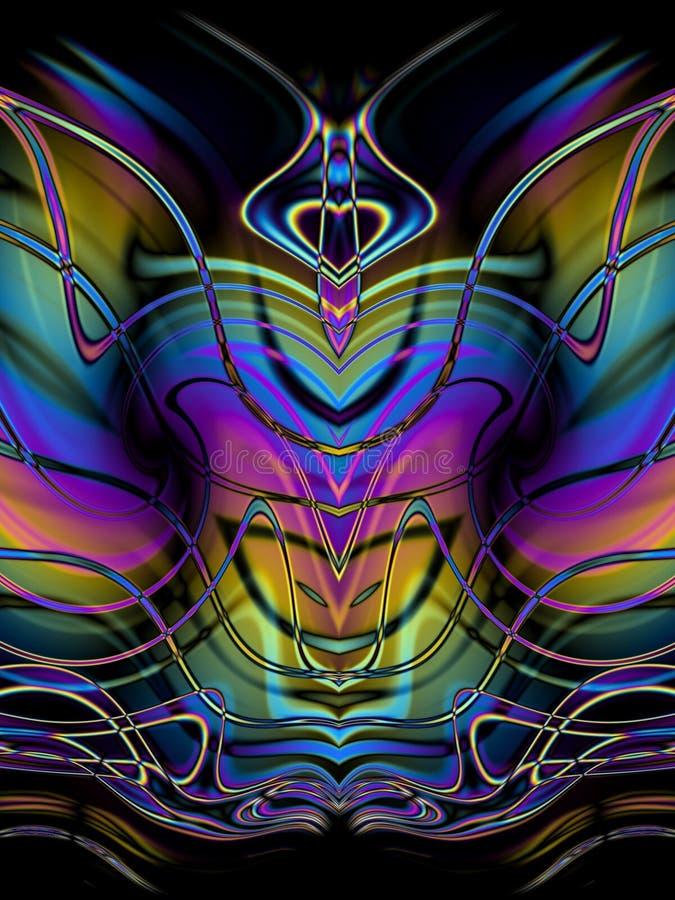 装饰抽象的蝴蝶 库存例证