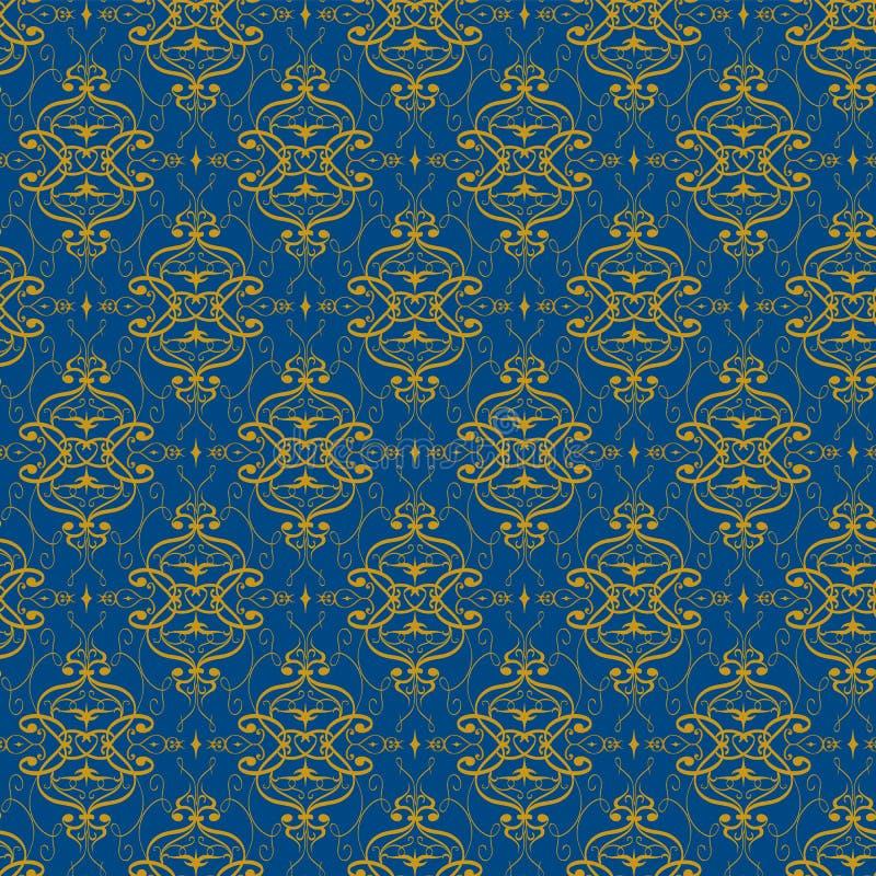 装饰无缝的传染媒介样式 华美的花饰 皇族释放例证