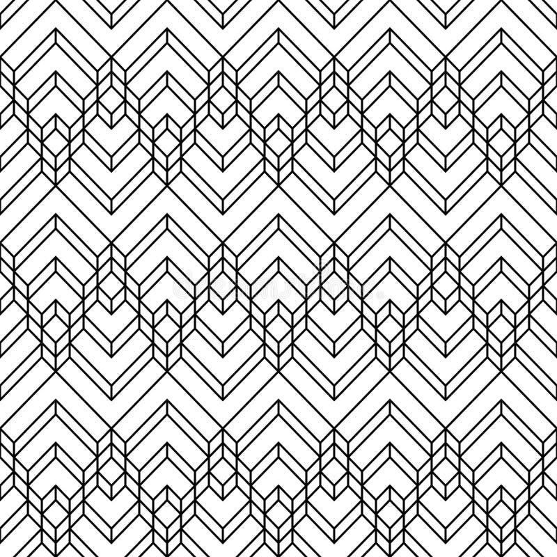 装饰无缝的几何传染媒介样式背景 皇族释放例证