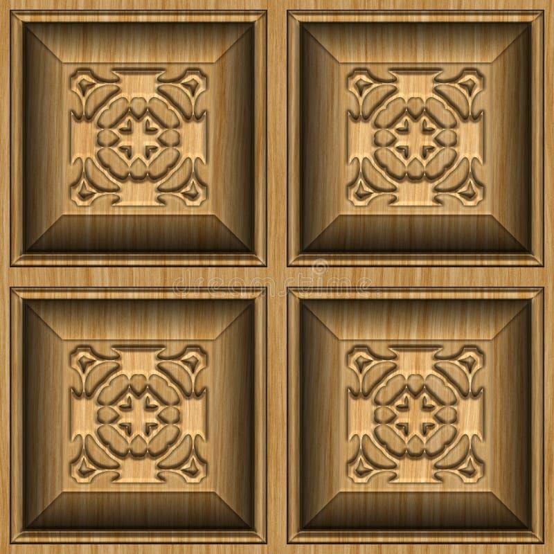 装饰木 库存例证