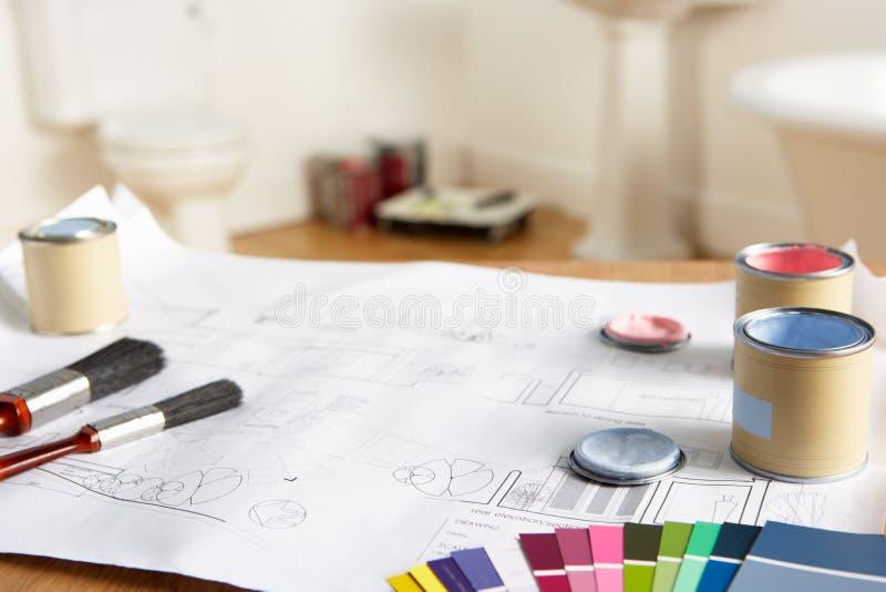 装饰材料工具 免版税图库摄影